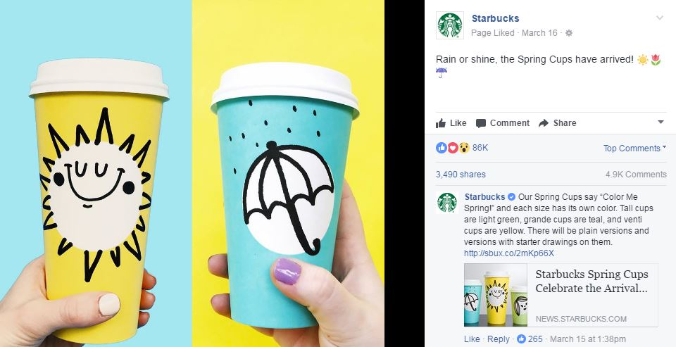 Content Marketing Lessons-Starbuck's Spring Cup